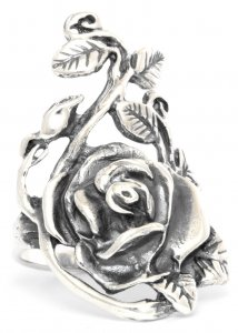 Silberring Rose