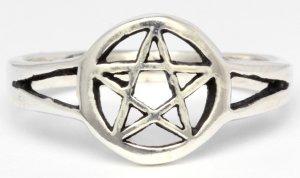 Silberring kleines Pentagramm