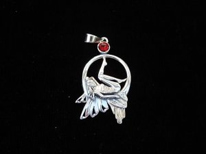 Silberanhänger Mondlicht- Elfe