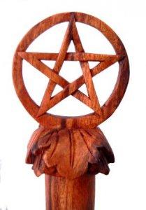 Wanderstab Pentagramm