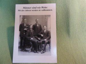 Postkarte  Männer sind...
