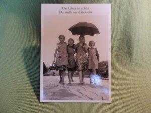 Postkarte Das Leben ist schön