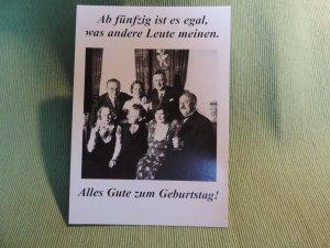 Postkarte 50. Geburtstag