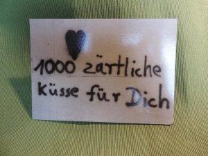 Postkarte 1000 Küsse