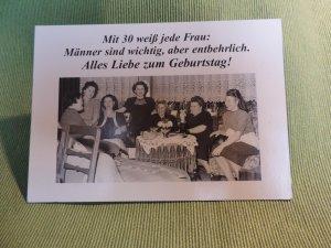 Postkarte 30. Geburtstag
