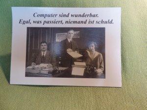 Postkarte Computer