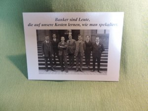 Postkarte Banker
