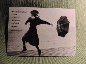 Postkarte Das Leben regnet
