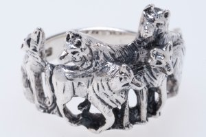 Silberring Wolfsrudel