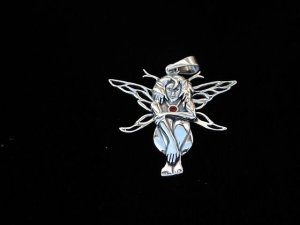 Silberanhänger Waldelfe